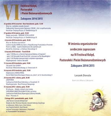 Zaproszenie na Festiwal