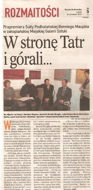 Gazeta Krakowska 14 września 2007